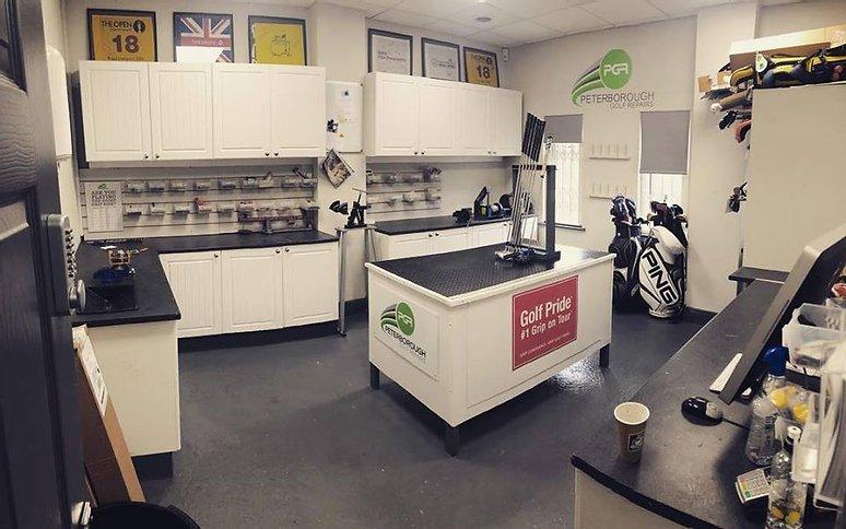 Golf repair shop